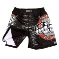 MMA/ KICKBOXING/ MUAY THAI/ BOXING/ WRESTLING - SHORTS BLACK GLADIATOR ARMOUR DESIGN